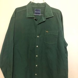Tommy Bahama forest green shirt